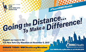 "Twelve Westchester Medical Center Health Network Staff Members will ""Go the Distance to Make a Difference"" at TCS New York City Marathon"